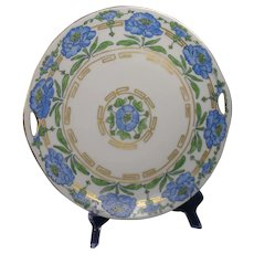"KPM Germany Floral Design Handled Plate (Signed ""Lolley""/c.1912-1927) - Keramic Studio Design"
