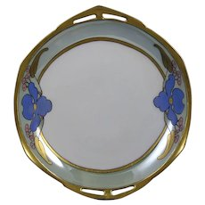 "MZ Czechoslovakia Floral Design Dish/Tray (Signed ""M. Suzann Brose""/c.1918-1939)"
