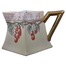 B&Co. Limoges Cherry Design Lemonade/Cider Pitcher (c.1900-1930)