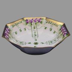 "Pickard Studios ""Violets in Panel"" Design Centerpiece/Serving Bowl (c.1910-1912)"