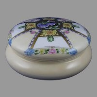 B&Co. Limoges Floral Design Covered Dresser Jar/Dish (c.1910-1930)