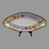"Pickard Studios Floral ""Border Primavera"" Design Serving Dish/Tray (c.1912-1918)"