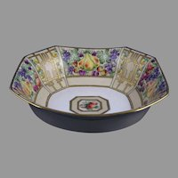 D&Co. Limoges Fruit Design Centerpiece Bowl (Signed/c.1910-1930)