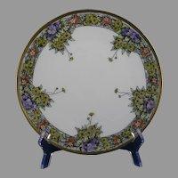 Jaeger & Co. Bavaria Floral Design Plate (c.1902-1930)