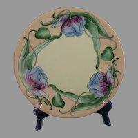 T&V Limoges Floral/Tulip Design Plate (c.1910-1930)
