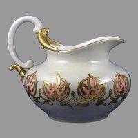 """Rosenthal Bavaria Arts & Crafts Design Pitcher (Signed """"LAS""""/c.1910-1930)"""
