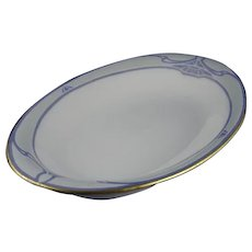 "Haviland Limoges Monochromatic Serving Dish/Tray (Signed ""Anna L. Kasper""/Dated 1912)"
