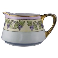 H&Co. Bavaria Arts & Crafts Grape Design Pitcher (c.1910-1930)