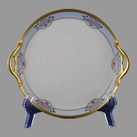 """GDA Limoges Floral Design Serving Plate (Signed """"R.M. Robertson, Bradford, PA""""/c.1910-1930)"""