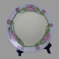 Thomas Bavaria Lotus/Pond Lily Blossom Design Plate (c.1910-1930)