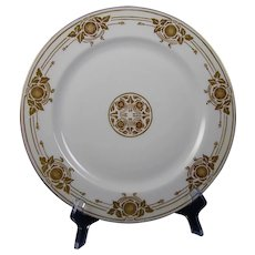 Haviland Limoges Gold & White Organic Design Plate (c.1910-1930) - Keramic Studio Design