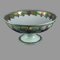 """Haviland Limoges Grape Design Centerpiece Bowl (Signed """"Helen Black""""/Dated 1910)"""