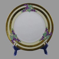 "Hutschenreuther Selb Bavaria Grape Design Plate (Signed ""H.M. Hanneman""/c.1920-1940)"