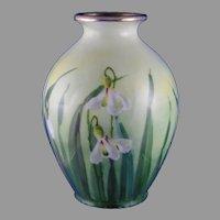 "Edward W. Donath Studio Floral Design Vase (Signed ""Kitt.""/c.1906-1920)"