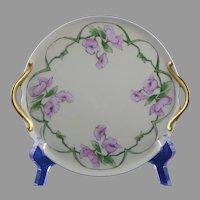 """RS Germany Floral Design Serving Plate (Signed """"E.M. Kinser""""/c.1904-1938)"""