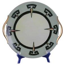 """T&V Limoges Art Deco Serving Plate (Signed """"A.H.M.""""/c.1910-1930)"""