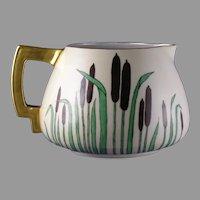 Count Thun (TK) Czechoslovakia Cattail Design Pitcher (c.1918-1939) - Keramic Studio Design