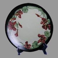 T&V Limoges Nasturtium Design Plate (c.1900-1920) - Keramic Studio Design