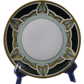 C.T. Altwasser Silesia Abstract Leaf Design Plate (c.1910-1930's)