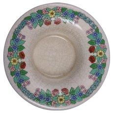 "American Satsuma Floral Design Centerpiece Bowl (Signed ""E.D. Pindar""/c.1910-1930)"