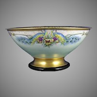 Czechoslovakia Peacock Motif Centerpiece Bowl (Signed/c.1918-1936) - Keramic Studio Design