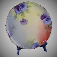 "White's Art Company Chicago Haviland Limoges Cornflower Design Plate (Signed ""ASP.""/c.1914-1923)"