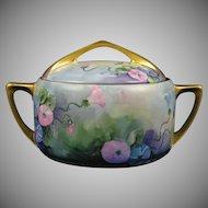 Rosenthal Bavaria Donatello Morning Glory Design Biscuit Jar (c.1907-1930)