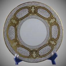 Hutschenreuther Favorite Bavaria Floral & Gold Design Plate (Signed/c.1910-1930)
