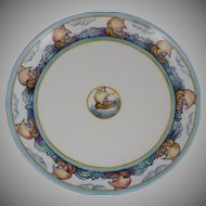 Haviland Limoges Sailboat Motif Plate (Signed/Dated 1933)