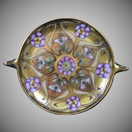 Rosenthal Donatello Selb Bavaria Floral & Gold Motif Handled Serving Plate/Dish (c.1910-1930)