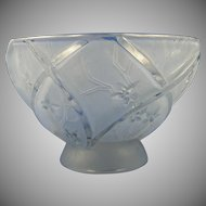 Consolidated Glass Blue Wash Line 700 Bowl (c. 1920's)