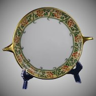 Rosenthal Donatello Bavaria Rose/Floral Design Handled Serving Plate/Dish (Signed/c.1909-1930) - Keramic Studio Design
