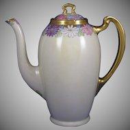 Lenox Belleek (American) Enameled Floral Motif Coffee Pot (c.1906-1924)