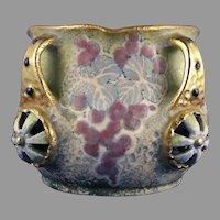 Amphora Austria Rosettes & Jewels Design Handled Vase (c.1909-1910)