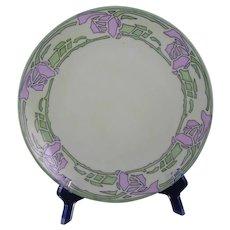 Thomas Bavaria Rose Design Plate (Signed/c.1908-1930) - Keramic Studio Design