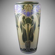 """Bernardaud & Co. (B&Co.) Limoges Arts & Crafts """"Cobaea"""" Design Vase (c.1917-1930) - Keramic Studio Design"""