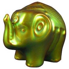 Zsolnay Hungary Eosin Green Circus Elephant Figurine (c.1920-1940)