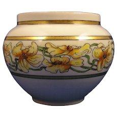 """William Guerin & Co. (WG&Co.) Limoges Arts & Crafts Floral Motif Jardinière/Vase (Signed """"O.M. Harrison""""/Dated 1915)"""