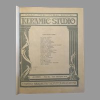Keramic Studio Magazine (Bound - 1917 & 1922 Various Editions)