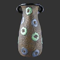 Amphora Austria Enameled Floral Design Vase (c.1905-1910)