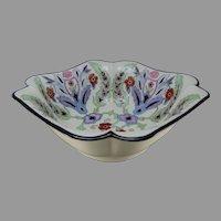 """Haviland Limoges Iznik Floral Design Centerpiece Bowl (Signed """"C.I. Faulkner""""/Dated 1933)"""