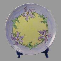 """Laviolette Limoges Floral Design Plate (Signed """"J. O'B.""""/c.1910-1930)"""