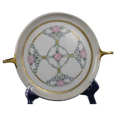 """Czechoslovakia Floral Design Serving Plate/Dish (Signed """"M.E.B.""""/Dated 1935)"""
