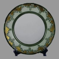 "Pfeiffer & Lowenstein (P&L) Imperial Austria Leaf/Fern Design Plate (Signed ""Della Porter""/c.1914-1918)"