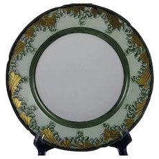 "Pfeiffer & Lowenstein (P&L) Imperial Austria Leaf/Fern Design Plate (Signed ""Della Porter""/c.1914-1918)"