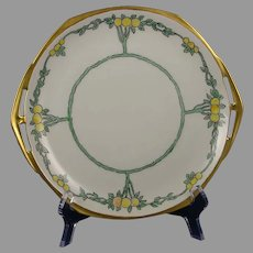 "MZ Czechoslovakia Citrus Tree Design Handled Plate (Signed ""EHR""/c.1918-1936)"