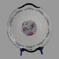 """Limoges """"Mark 6"""" Floral Design Handled Plate (Signed """"Irene Barker""""/c.1910-1930)"""