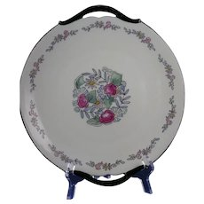 "Limoges ""Mark 6"" Floral Design Handled Plate (Signed ""Irene Barker""/c.1910-1930)"