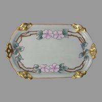 MZ Austria Wild Rose Design Pin Dish/Tray (c.1910-1930)