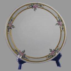 Bavaria Porcelain Enameled Floral Design Plate (c.1910-1930)